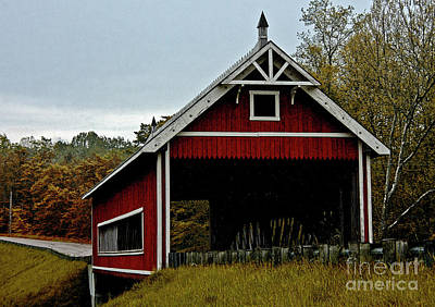 Photograph - Red Covered Bridge by Tom Griffithe