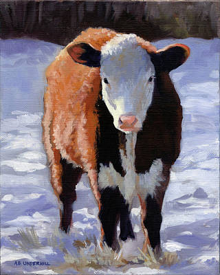 Painting - Red Cow by Alecia Underhill
