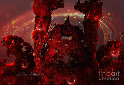 Digital Art - Red Creature Fractal by Melissa Messick