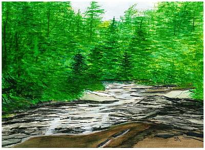 Red Creek Art Print