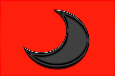 Photograph - Black Crescent On Red by Tina M Wenger