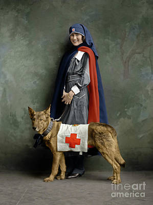 Photograph - Red Cross Nurse by Granger