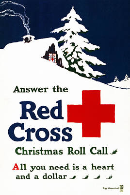 Photograph - Red Cross Poster, C1915 by Granger