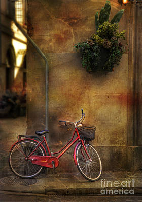 Art Print featuring the photograph Red Crown Bicycle by Craig J Satterlee