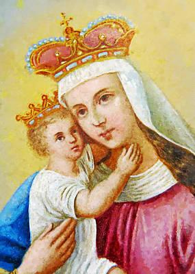 Baby Jesus Digital Art - Red Crown by Munir Alawi