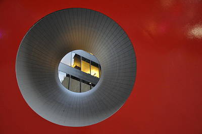 Photograph - Red Cube By Isomu Nagochi by Andrew Dinh