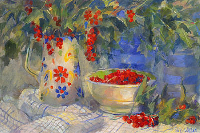 Of Fruit Painting - Red Currants by Sue Wales