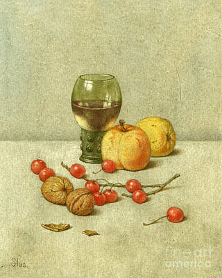 Painting - Red Currants by Victor Sap