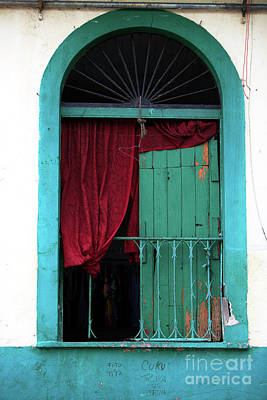 Photograph - Red Curtain In Casco Viejo by John Rizzuto
