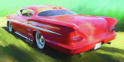 Digital Art - Red Custom by David King