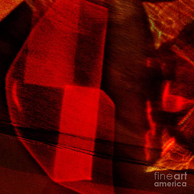 Red Cut Glass In Sunlight Art Print by Elena Lir-Rachkovskaya