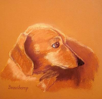 Red Dachshund Original