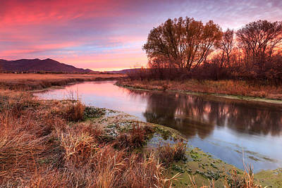 Photograph - Red Dawn At Spring Creek. by Johnny Adolphson