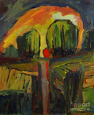 Red Dawn Art Print by Charlie Spear