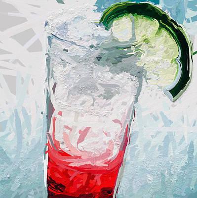 Red Dawn Cocktail Art Print