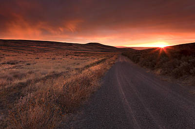 Country Photograph - Red Dawn by Mike  Dawson