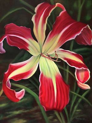 Painting - Red Daylily by Randy Burns