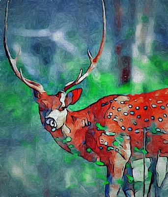 House Pet Digital Art - Red Deer by Yury Malkov