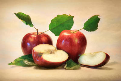 Apple Mixed Media - Red Delicious by Lori Deiter