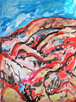 Painting - Red Desert Mountains by Esther Newman-Cohen