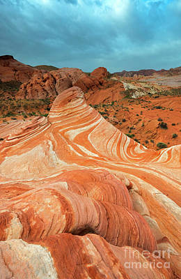 Photograph -  Red Desert Stripes by Mike Dawson