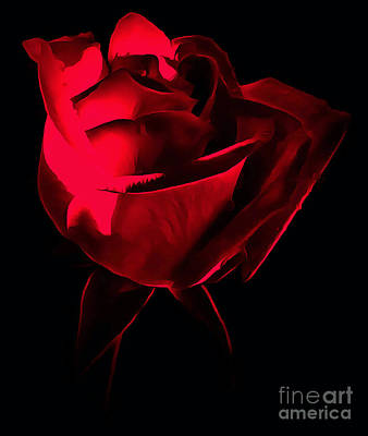 Flower Abstract Photograph - Red Desire by Krissy Katsimbras
