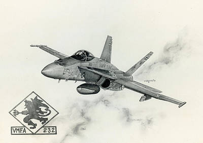 F-18 Painting - Red Devils by Mark Jennings