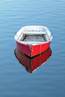 Photograph - Red Dinghy In Portsmouth by Eric Gendron