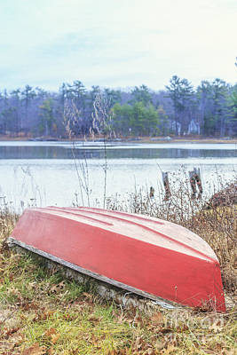 Red Dingy Art Print by Edward Fielding