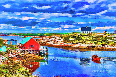 Photograph - Red Dock Cove by Rick Bragan