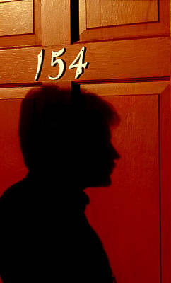 Profile Shadow Photograph - Red Door 154 by Tony Ramos