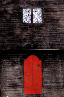 Photograph - Red Door 2 by Jeff Heimlich