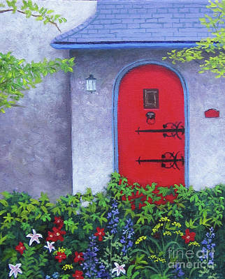 Painting - Red Door by Anne Marie Brown