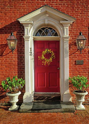 Photograph - Red Door At Gettysburg by Dave Mills