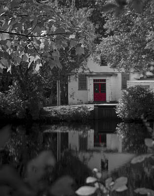 Photograph - Red Door At Mill Pond by Mark Wiley