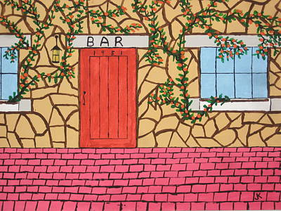 Red Door Bar Original by Jeffrey Koss