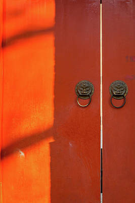 Photograph - Red Door Bell Tower by Erika Gentry