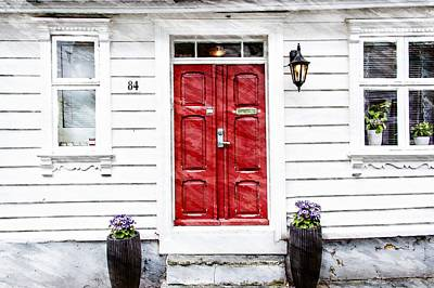 Photograph - Red Door by Bill Howard