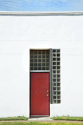 Photograph - Red Door Blue Sky Green Grass by Ross Odom