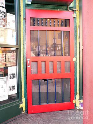 Red Door Art Print by David Bearden