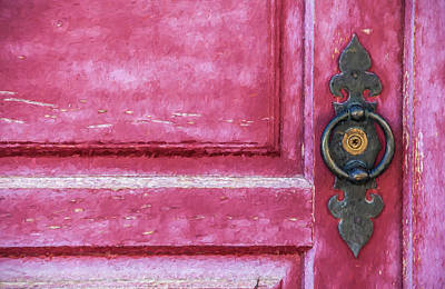 Water Droplets Sharon Johnstone - Red Door by David Letts