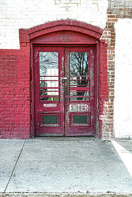Photograph - Red Door Enter by Sharon Popek