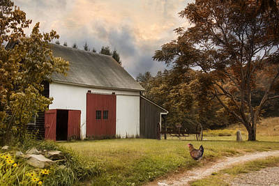 Photograph - Red Door Farm by Robin-Lee Vieira