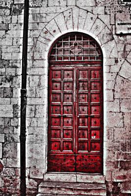 Digital Art - Red Door by Greg Sharpe