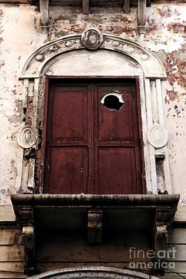 Photograph - Red Door In Cartagena by John Rizzuto