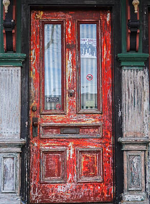 Photograph - Red Door In Portsmouth Nh by Nancy De Flon