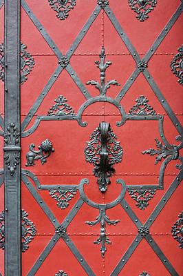 Art Print featuring the photograph Red Door In Prague - Czech Republic by Melanie Alexandra Price