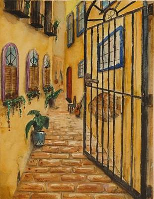 Donny Painting - Red Door In San Juan by Don Seib
