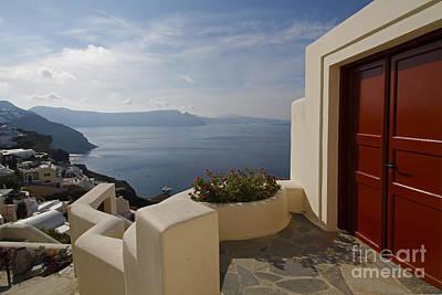 Photograph - Red Door In Santorini by Dennis Hedberg
