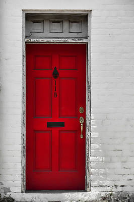 Red Door Art Print by JAMART Photography